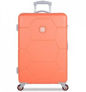 SUITSUIT Caretta M Melon cestovní kufr na 4 kolečkách 65 cm