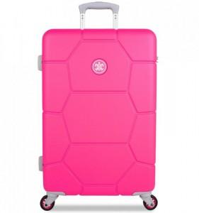 SUITSUIT Caretta M Hot Pink cestovní kufr na 4 kolečkách 65 cm