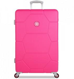 SUITSUIT Caretta L Hot Pink cestovní kufr na 4 kolečkách 75 cm
