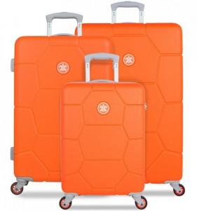 SUITSUIT Caretta Vibrant Orange sada 3 cestovních kufrů 75/65/55 cm