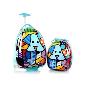 Heys Britto for Kids Blue Dog dětská luxusní sada kufru 13,4 l a batohu 4,8 l