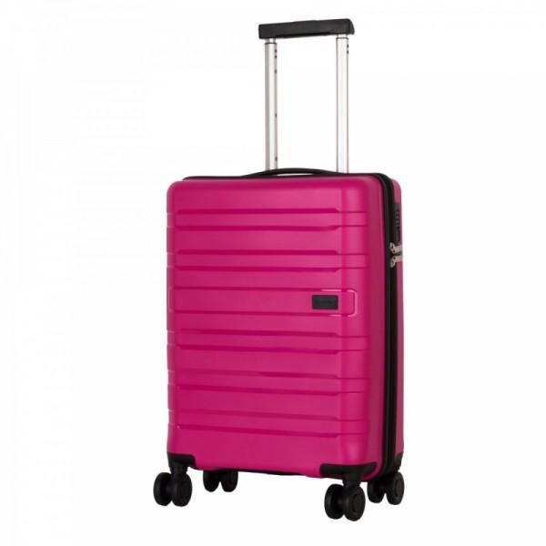 Travelite Kosmos 4w S Pink skořepinový palubní kufr na 4 kolečkách TSA 55 cm