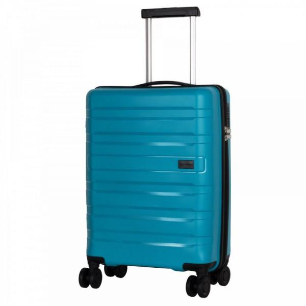 Travelite Kosmos 4w S Aqua skořepinový palubní kufr na 4 kolečkách TSA 55 cm