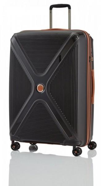 Titan Paradoxx 4w L Black skořepinový cestovní kufr na 4 kolečkách TSA 77 cm
