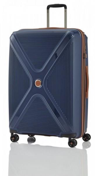 Titan Paradoxx 4w L Navy skořepinový cestovní kufr na 4 kolečkách TSA 77 cm