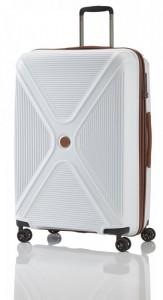 Titan Paradoxx 4w L White skořepinový cestovní kufr na 4 kolečkách TSA 77 cm