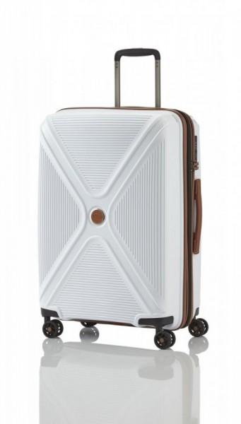 Titan Paradoxx 4w M White skořepinový cestovní kufr na 4 kolečkách TSA 68 cm 80-88 l