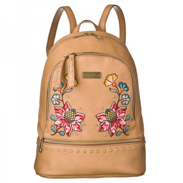LiLiÓ Daffodil M Backpack Fudge dámský květovaný městský batoh 7,3 l