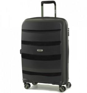 ROCK TR-0174 Torrance M Black cestovní kufr na 4 kolečkách TSA 65 cm