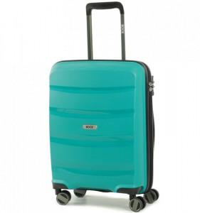 ROCK TR-0174 Torrance S Green palubní cestovní kufr na 4 kolečkách TSA 54x40x21 cm