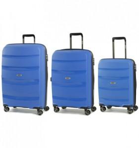 ROCK TR-0174 Torrance S/M/L Blue sada 3 cestovních kufrů na kolečkách TSA 54/65/75 cm