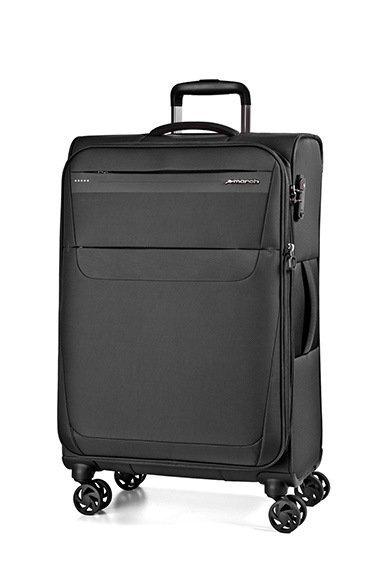 March Aeon S Black ultralehký palubní kufr na 4 kolečkách TSA 55x38x20 cm 2,0 kg