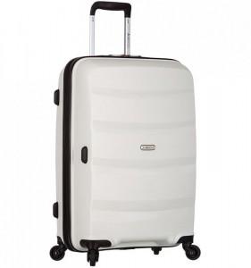 Azure Sirocco T-1208 L White skořepinový cestovní kufr na 4 kolečkách TSA 76 cm