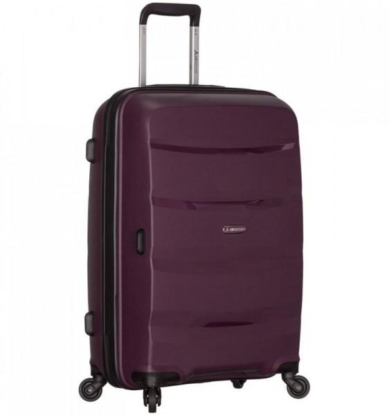 Azure Sirocco T-1208 L Purple skořepinový cestovní kufr na 4 kolečkách TSA 76 cm