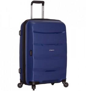Azure Sirocco T-1208 L Blue skořepinový cestovní kufr na 4 kolečkách TSA 76 cm