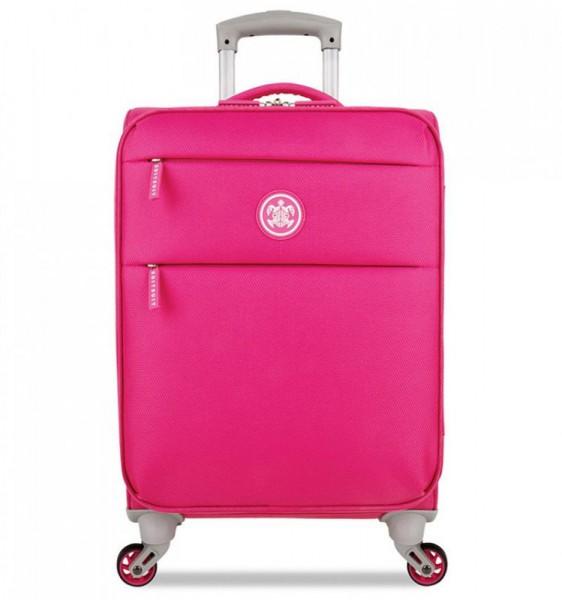 SUITSUIT Caretta Soft S Hot Pink palubní cestovní kufr na 4 kolečkách 55 cm