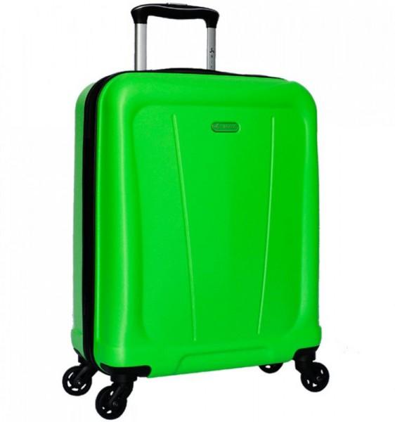 Azure Sirocco T-1213 S Lime ABS palubní cestovní kufr na 4 kolečkách 55x40x22 cm