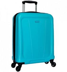 Azure Sirocco T-1213 S Turquoise ABS palubní cestovní kufr na 4 kolečkách 55x40x22 cm