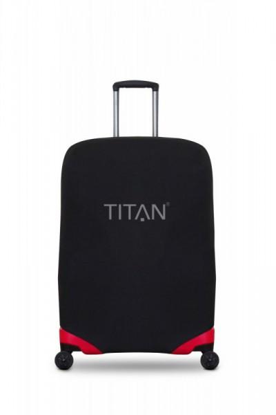 Titan Luggage Cover S Black univerzální obal na cestovní kufry s rozměry do 55 x 40 x 20 cm