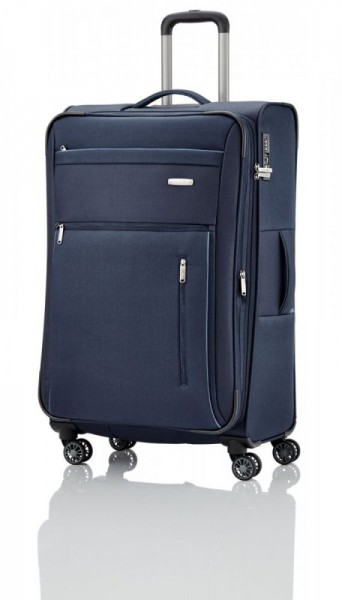 Travelite Capri 4w L Navy cestovní kufr na 4 kolečkách TSA 76 cm 98-111 l