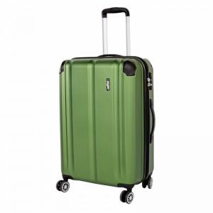 Travelite City 4w M Green cestovní kufr na 4 kolečkách TSA 68 cm 78-86 l