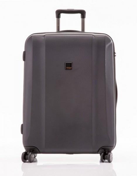 Titan Xenon 4w M Black polykarbonátový cestovní kufr na 4 kolečkách TSA 67 cm