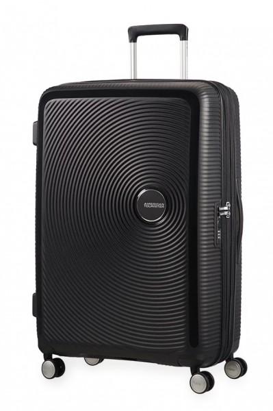 American Tourister Cestovní kufr Soundbox Spinner EXP 32G 97/110 l – černá