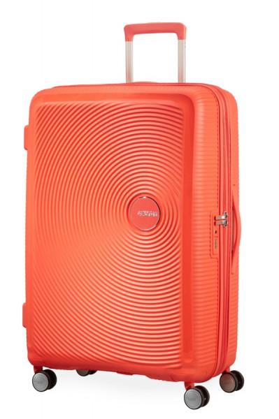 American Tourister Cestovní kufr Soundbox Spinner EXP 32G 97/110 l – oranžová