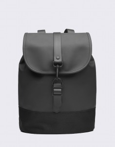Batoh Rains Drawstring Backpack 01 Black