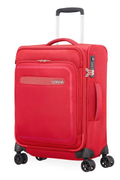 American Tourister Kabinový cestovní kufr AirBeat Spinner EXP 45G 40/43 l – červená