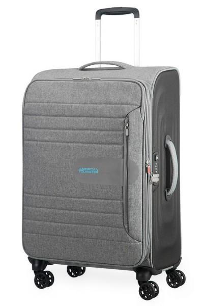 American Tourister Cestovní kufr Sonicsurfer Spinner EXP 46G 74,5/83,5 l – světle šedá