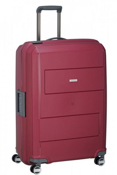 Travelite Makro 4w L Red skořepinový cestovní kufr na 4 kolečkách TSA 75 cm
