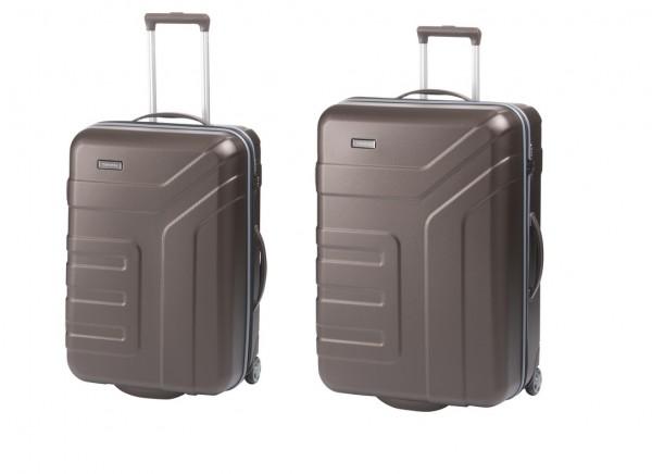 Travelite Vector 2w M,L Brown – sada 2 kufrů