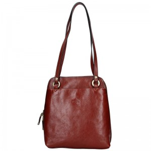 Dámská kožená batůžko kabelka Katana Cindy – hnědá