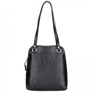 Dámská kožená batůžko kabelka Katana Cindy – černá