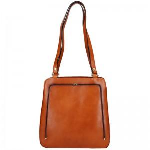 Dámská kožená batůžko kabelka Katana Viola – hnědá