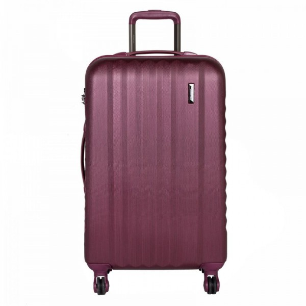March Ribbon M Burgundy Brushed cestovní kufr na 4 kolečkách TSA 65 cm