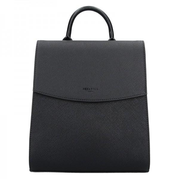 Elegantní dámský batoh Hexagona Erika – černá