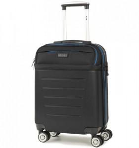 ROCK TR-0166 Hybrid S Black ABS/PES palubní cestovní kufr TSA 55x39x20 cm