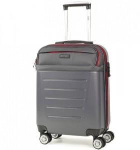 ROCK TR-0166 Hybrid S Charcoal ABS/PES palubní cestovní kufr TSA 55x39x20 cm