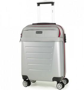 ROCK TR-0166 Hybrid S Silver ABS/PES palubní cestovní kufr TSA 55x39x20 cm