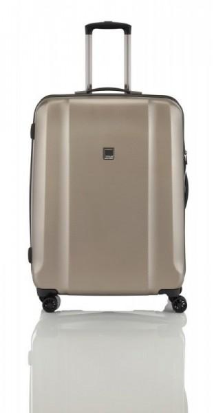 Titan Xenon Deluxe M Champagne polykarbonátový cestovní kufr na 4 kolečkách TSA 67 cm
