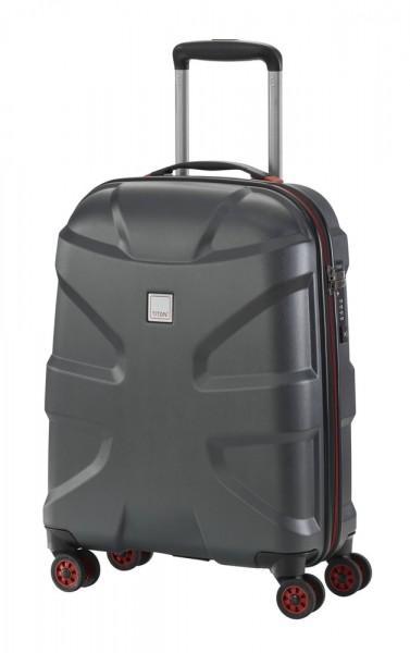 Titan Kabinový cestovní kufr X2 4w S Black brushed 40 l