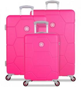 SUITSUIT Caretta Hot Pink sada 3 cestovních kufrů 75/65/55 cm
