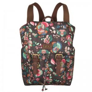 LiLiÓ Biba S Backpack Chestnut malý květovaný městský batoh 3,8 l