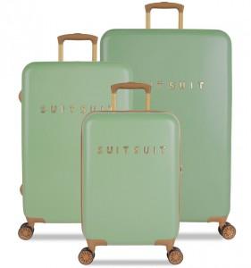 SUITSUIT TR-7103/3 Fab Seventies Basil Green – sada 3 kufrů