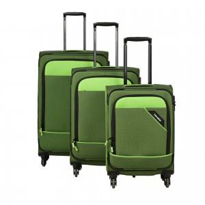 Travelite Derby 4w S,M,L Green – sada 3 kufrů