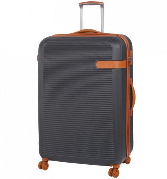 ROCK TR-0159 Valiant XL Charcoal cestovní kufr na 4 kolečkách TSA 81 cm 130-159 l