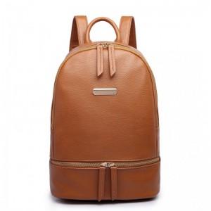 Miss Lulu LF6606 dámský elegantní batoh hnědý