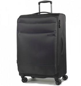 ROCK TR-0161 DeLuxe-Lite M Black ultralehký cestovní kufr na 4 kolečkách TSA 72 cm 2,6 kg